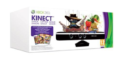 Foto Kinect - Sensor Bar + Adventures, Fruit Ninja, The Gunstringer [Bundle]