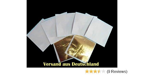 Zum Basteln Künstlerbedarf Blattgold Blattmetall 10er Set Ca 64x 64 Mm