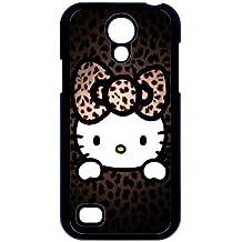 i9190 caso de Hello Kitty B1C18X8MO funda Samsung Galaxy S4 Mini funda 3A24D3 negro