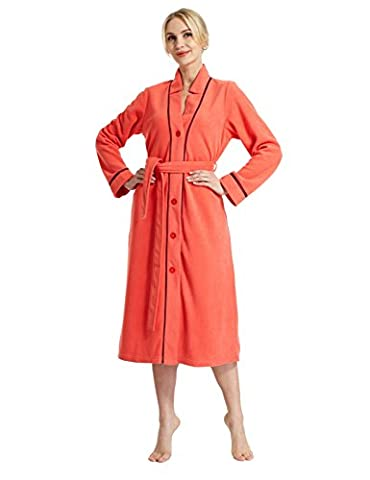 Raikou neuf Femme Peignoir pour sauna, robe, manteau avec capuche, moelleux et doux, différentes couleurs & # xff0C; Taille 36–50–758103 Rouge Corail 36/38