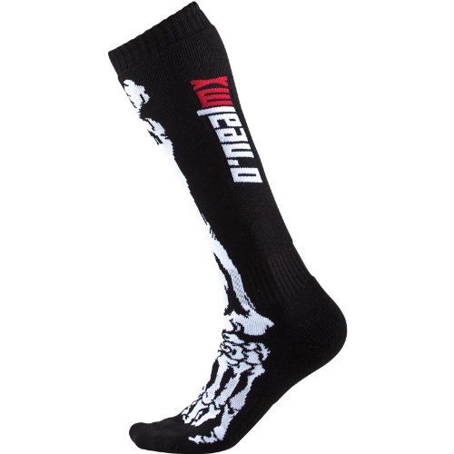 O\'Neal Pro MX Socken XRay Skull schwarz Weiss Moto Cross Mountain Bike Enduro MTB MX FR, 0356X-602