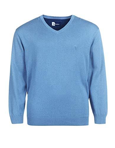 Big Fashion by Adler Mode Herren Pullover - Schlupfjacke, Sweater, Hoody, Pulli - Große Größen Hellblau 4XL 60 (Adler Pullover)