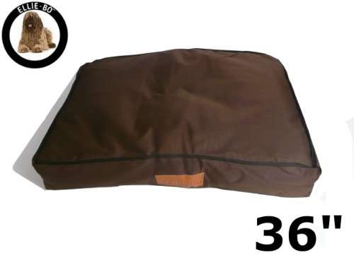 Ellie-Bo 87 x 57 x 10 cms Large Replacement Waterproof Dog Bed Cover in brown with Black Piping 2