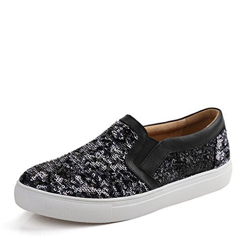 Chaussures casual féminin printemps/Chaussures paillettes Lok Fu/Les souliers/Korean chaussures femme/Chaussures à semelles épaisses B