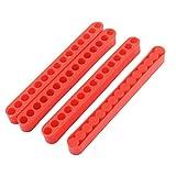 sourcingmap 125 mm de longitud de 7 mm Diámetro de 15 orificios Destornillador Porta-puntas bloque rojo de 4 PC