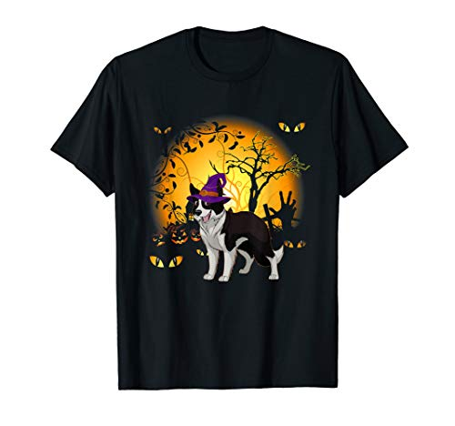 Collie Kostüm Border - Lustiges Border Collie Halloween Kostüm Tee Shirt