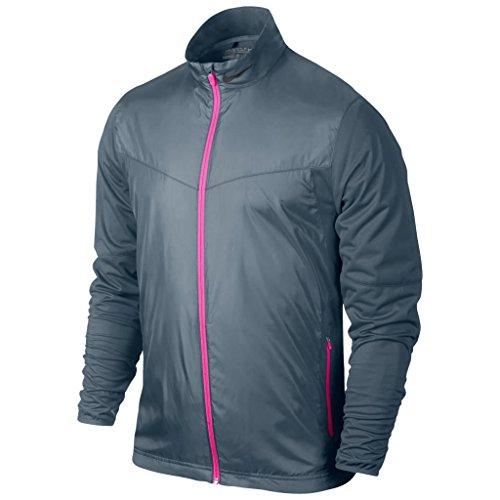 2015 Nike Shield WIndproof Full-Zip Lightweight Mens Golf Jacket Blue Graphite XL (Nike Herren Windshirt)
