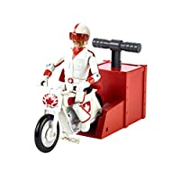 "Disney Pixar Toy Story 4 Stunt Racer Duke Caboom Figure, 5.9"" Tall, with Motorcycle and Launcher, Race Up to 15 Feet and Perform Stunts"