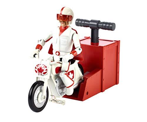 Mattel Disney Toy Story 4 Figura Duke Caboom acrobacias y Carreras con Su Moto, Juguetes Niños +3 Años (GFB55)