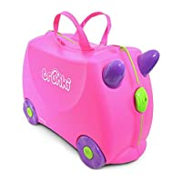 Trunki Trixie Ride-On Suitcase - Pink Size H31, W21, D46cm.