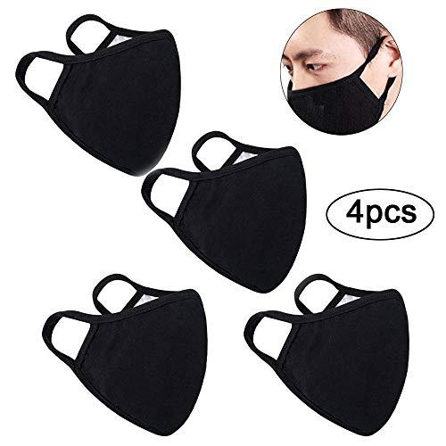 dbare Anti-Staub-Mundschutzmasken aus Baumwolle für Mann und Frau (4 pcs) ()