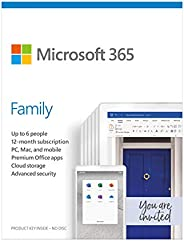 Microsoft 365 Family - for PC, Mac, iOS and Android, English Subscription, Middle East Version, 1 Year License