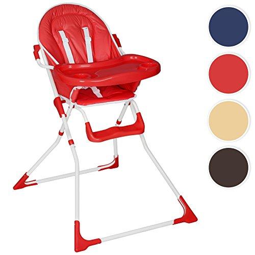 TecTake Bebe Bambino Bambini Seggiolone - disponibile in diversi colori - (Rosso)