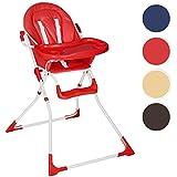 TecTake Trona para niños con bandeja y bebés - disponible en diferentes colores - (Rojo | No. 400706)