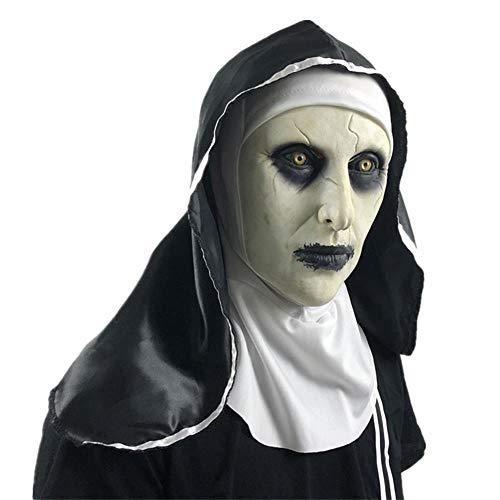 Geist Halloween Kostüm Kopf Maske Party Cosplay Voller Kopf für Kinder und Erwachsene ()
