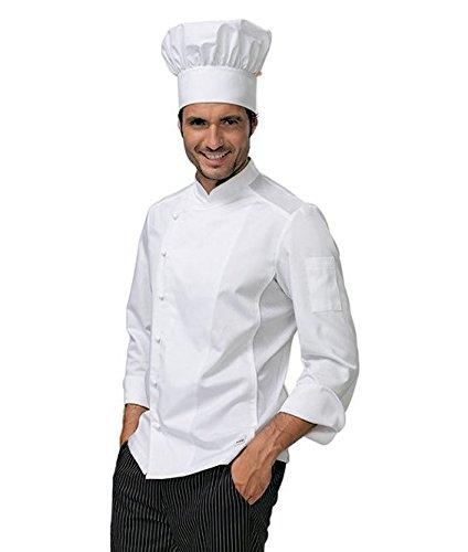 """SIGGI - Giacca per cuoco """"Stewart"""" con inserti traspiranti. Cotone 60% poliestere 40% irrestringibile. Colore bianco. Peso al mq. gr. 200. - Taglia: L"""