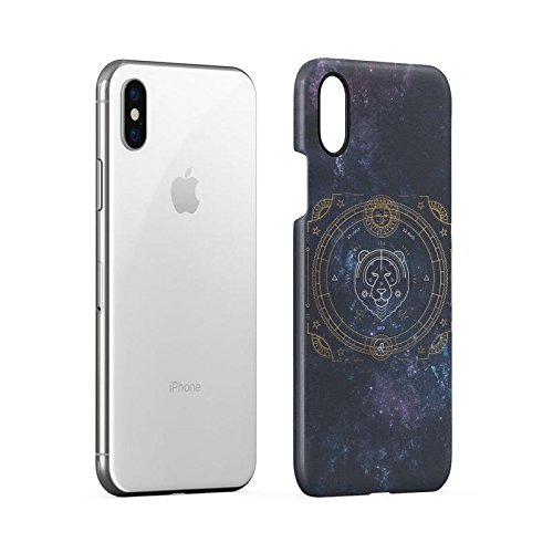 Zodiac Aries Sign Custodia Posteriore Sottile In Plastica Rigida Cover Per iPhone X Slim Fit Hard Case Cover Leo Sign