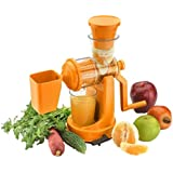 Mantavya Plastic Vegetable And Fruit Hand Juicer With Waste Collector (Color May Very)