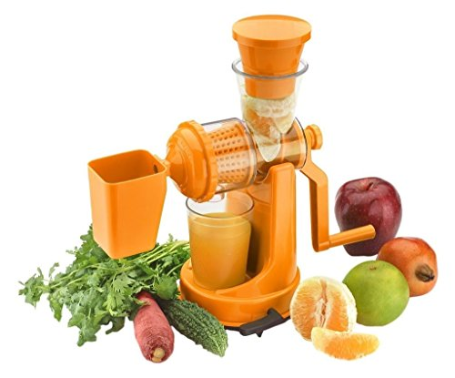 Mantavya Plastic Vegetable and Fruit Hand Juicer with Waste Collector (Color May Vary)