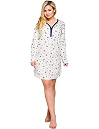 Merry Style Camisón Tallas Grandes Plus Size Vestidos de Dormir Ropa de Cama Interior Lencería Mujer