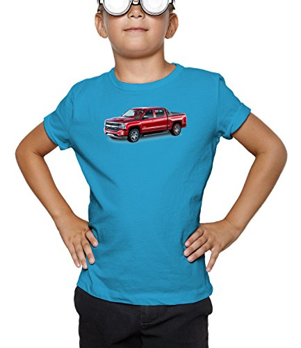 billion-group-red-pickup-american-motor-cars-boys-classic-crew-neck-t-shirt-azul-medium