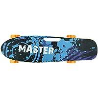 527354 Skateboard eléctrico 70cm MASTER con mando inalámbrico wireless 15 km/h - Azul