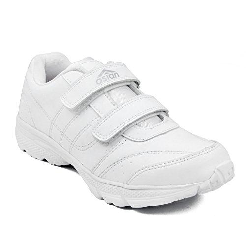 Asian Shoes Boy's GENIUS White School Range