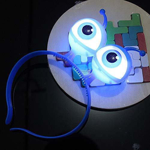 (Lionina Stirnband mit LED-Beleuchtung und Brille, blinkendes Stirnband, Halloween, blau, Free Size)