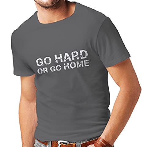 T-shirt pour hommes « Go Hard or Go Home »