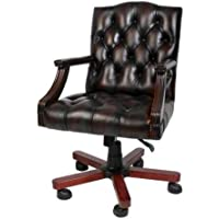 Luxury leather office chair brown swivel chair desk chair - Executive (Leather Club Chair)