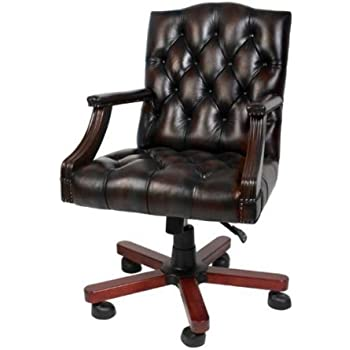Luxury Leather Office Chair Brown Swivel Chair Desk Chair Executive Chair