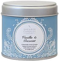 Shearer Candles Bougie dans une boîte en inox Senteur vanille et coco Argenté 7,5 x 7,2 cm
