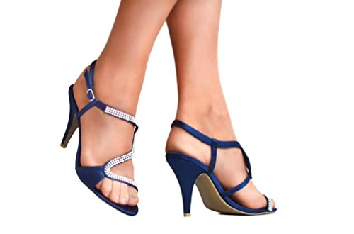 Krasceva , Sandales pour femme Bleu Marine