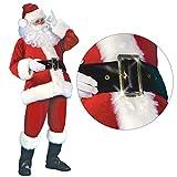 Abito da Babbo Natale 7 Pezzi/Set Unisex Adulto Natale Peluche Cosplay Party Outfit Vestito Natalizio Vestito da Donna per Uomo Xl