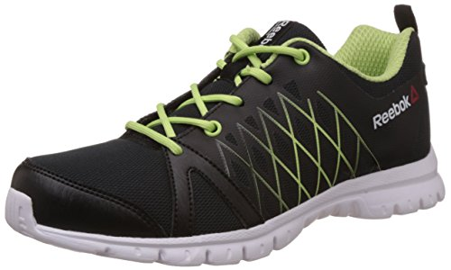 Reebok Women's Pulse Run Black, Yellow and White Running Shoes – 4 UK 41gGDBItI 2BL