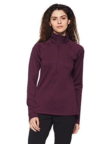 Columbia Sportswear Women's samedi demi-zip Shirt Trail Plum Heather