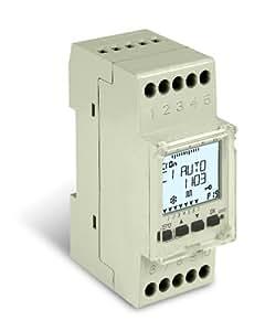 Sesam CPU 35 wu-JS Horloge programmable annuelle et hebdomadaire digitale guidée par menus 2 unités de division 1 canal