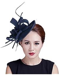 Y-BOA Chapeau Bibi Voile Plume Fleur Cheveux Accessoire Cérémonie Femme
