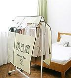 Heelinna Bolsa de Almacenamiento Anti Polvo Impermeable Ropa Camisas Guardarropa Tela no Tejida Bolsa de Almacenamiento (Color : Black)