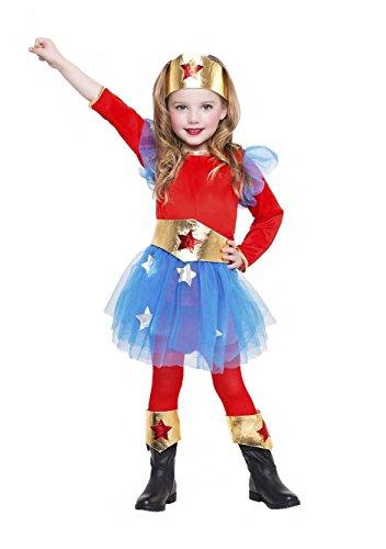 Imagen de disfraz superheroina talla 5 6 años tamaño infantil