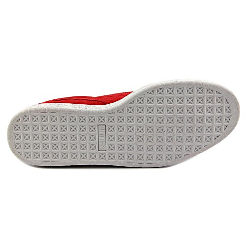 Puma Suede Classic + Big Logo Cuir Baskets Red-Black-White