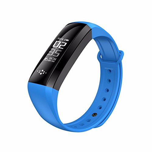 Für Sport Activity Tracker Pedometer M2S Smart Armband Herz Rate Monitor Smart Armband Fitness Tracker, blau