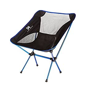Moon Lence Portable Ultralight Heavy Duty Camping Chairs, Folding Beach Chairs with Carry Bag