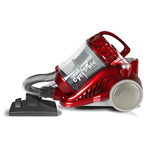 TurboTronic Aspirateur sans Sac 1400 Watt Mega Power CYCLONIC PARQUET CV05 (Red)