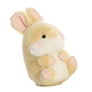 Aurora World Lively Conejo Rolly Mascotas de Peluche (Beige/Blanco/Rosa)