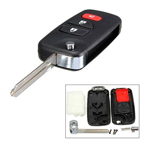 Preisvergleich Produktbild mark8shop 3Btn blanko Fernbedienung faltbar Flip Blade Case für Nissan Frontier Murano Quest Schlüssel