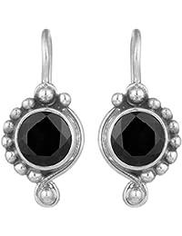 Peora 925 Sterling Silver Diamond Cut Cubic Zirconia Drop Fish Hook Earrings for Women Girls