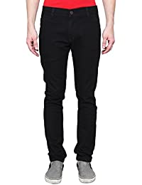 ANSH FASHION WEAR Men's Jeans - Contemporary Slim Fit Denims For Men - Washed Mid Rise Comfortable Jeans - Black - B06XXHJCHB