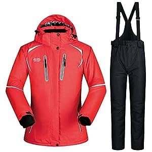 QZHE Skianzug Winter Skianzug Damen Mantel Und Hose Super Warm Winddicht Wasserdicht Warme Ski Snowboard Bekleidung