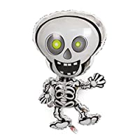 Aerobin Halloween Foil Balloons Inflatable Toys for Halloween Indoor Outdoor Party Decoration(Dance skeleton)